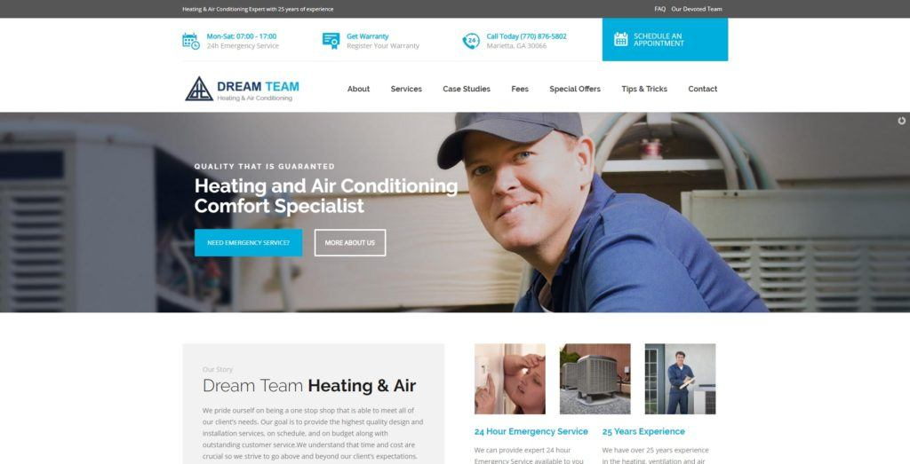 Heating & Air Co. Website Design