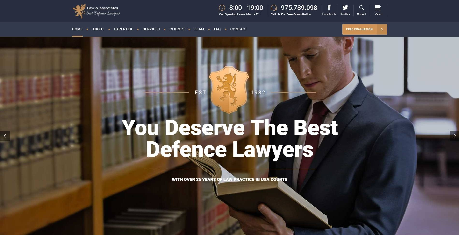 A Company Website For Law Firms & Lawyers